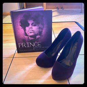 Purple Rain 💜💧🔥 Chic Platform Heels